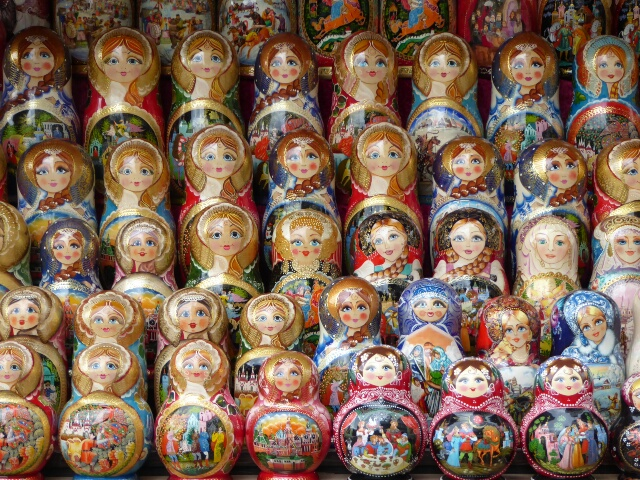 Matryoshka dolls, about $10 each set