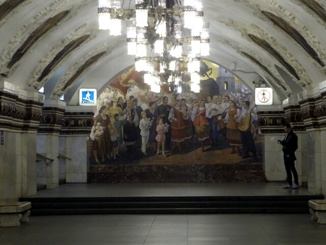 Mural in one of the stations
