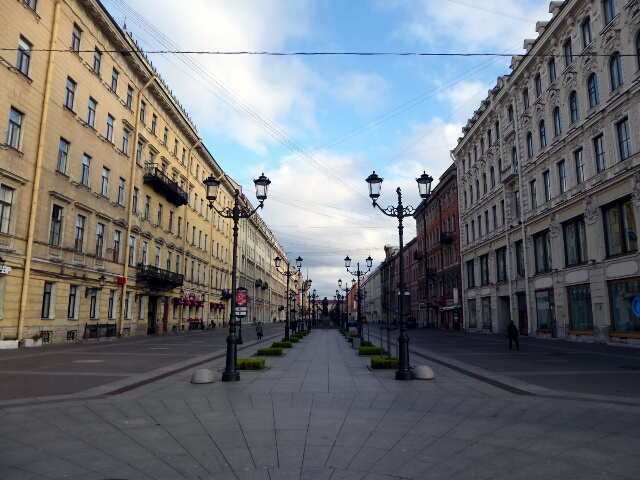 Walking street off Nevsky Prospect (main street) - like communism never happened