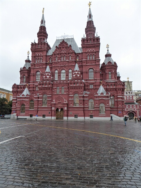 Red Square, almost deserted on a rainy day