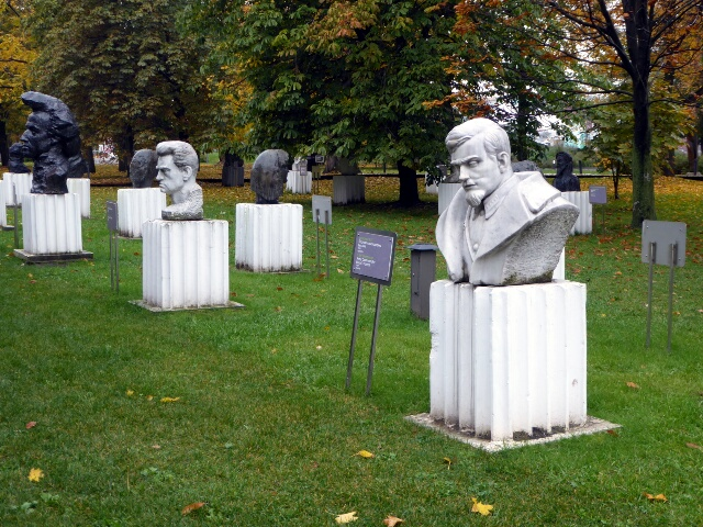 "Sculpture Park of ""Fallen Heroes"" ie the disgraced"