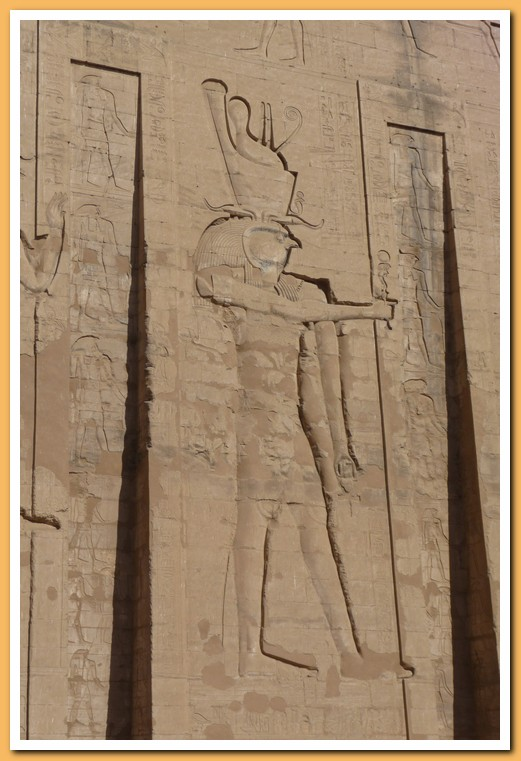 Detail on the front of the Edfu temple