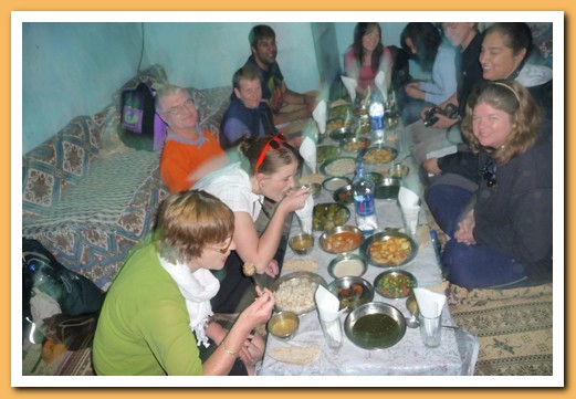Typical Egyptian lunch at a local house in Luxor