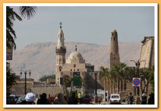 A mosque inside Luxor temple