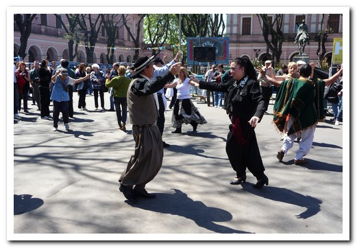 Dancing in the streets at the Feria, held every Sunday