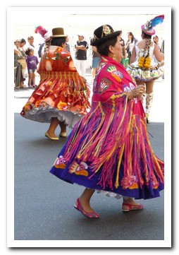 Bolivian religious festival in the streets of Buenos Aires