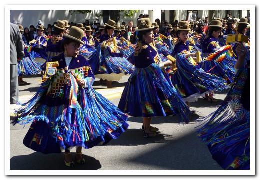 Beautiful colours in the traditional costumes