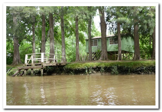 One of the cute little houses along the river