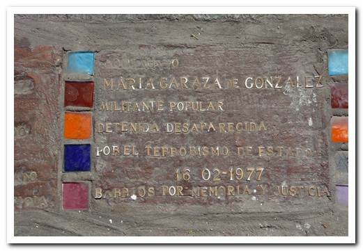 One of the many plaques in the pavements on Buenos Aires to rember those who dissapeared
