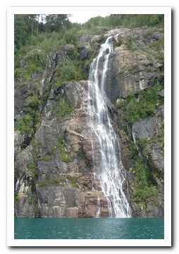 Waterfall into Lago Todos los Santos (or Emerald Lake for the green colour)