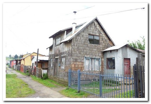 Wood shingled houses at Puerto Varas
