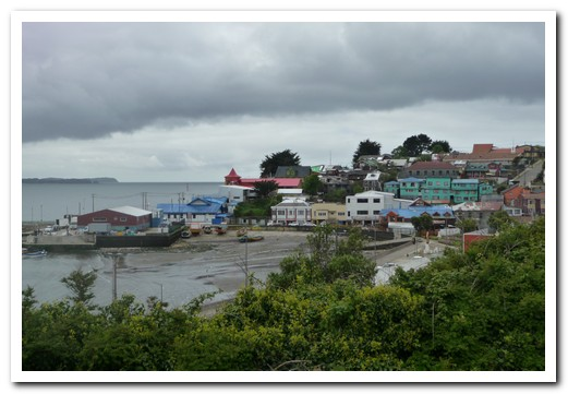 Ancud is on the north west coast