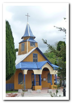 The church at the small village of Quemchi