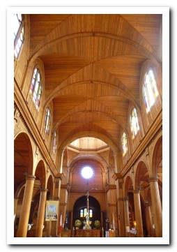 The wooden interior of Castro´s cathedral