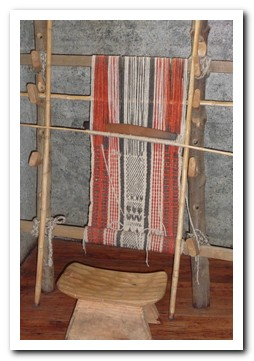 Traditional Mapuche weaving