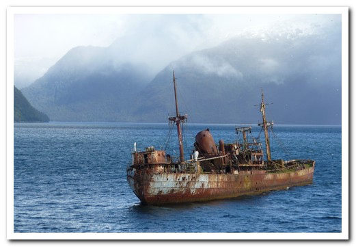 This ship hit the only rock in the channel
