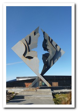 The albatros monument on Cape Horn Island for the sailors who lost their lives here