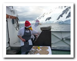 Barbeque on the aft deck