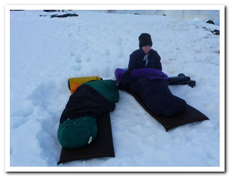 Sleeping out on the Antarctic ice