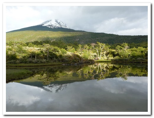 View from our campsite in Tierra del Fuego NP