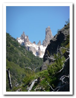Looking up the valley to Cerro Catedral