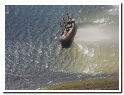 Wreck of an old sailing ship