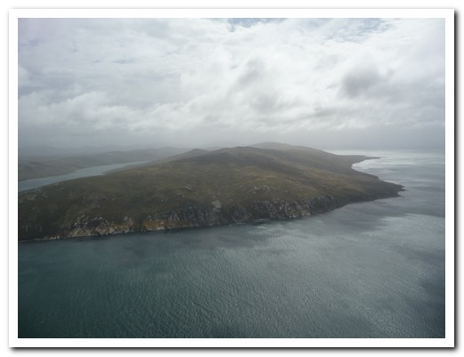 Saunders Island from the air
