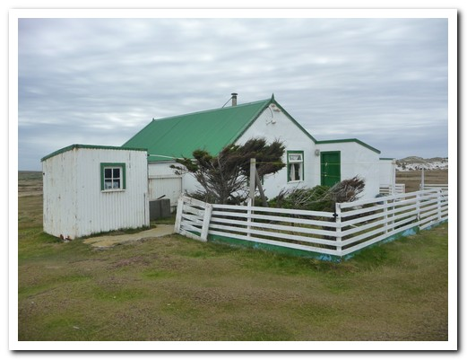 The original farm house on the Island was made from a ship wreck