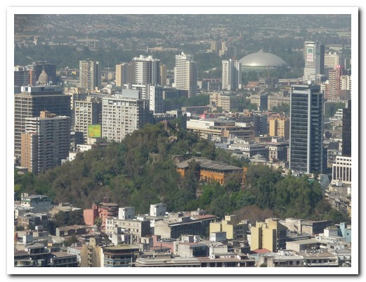 Downtown Santiago from