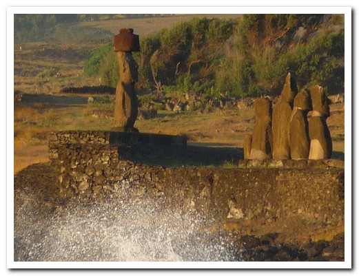 All the Moai (except 7) faced inland towards the villages