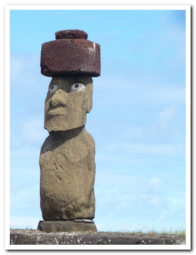 Once the eyes (made of coral) were in place, the Moai became alive