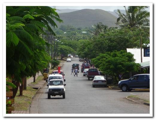 Hanga Roa town - main street