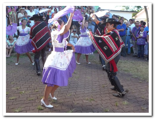 Folk dancing reminds us that this is Chile after all