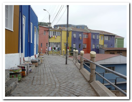 Row of coloured houses