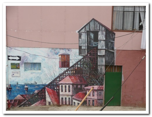 Mural of funicular