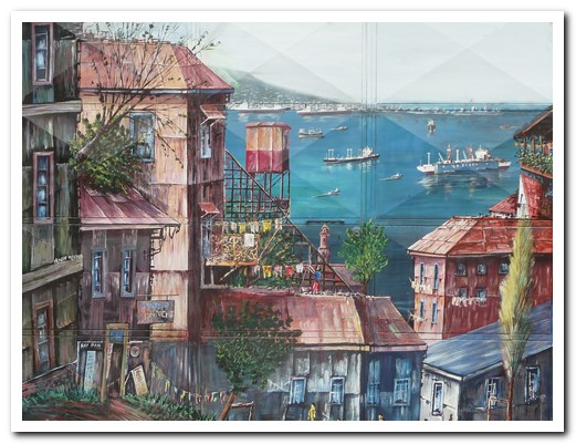 Mural of Valpo harbour
