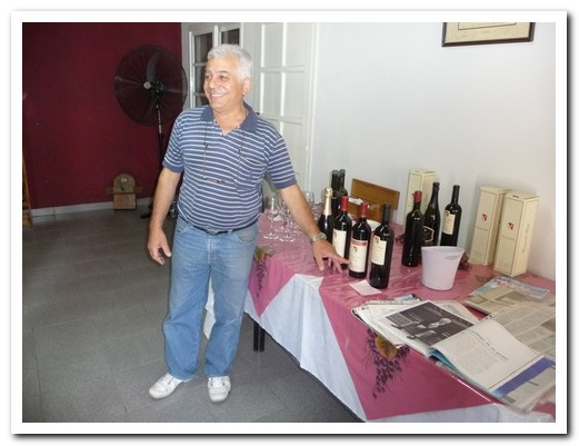 Don Carmelo himself conducted the tasting at Viña Carmelo Patti