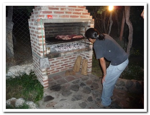 The asado at our hostal