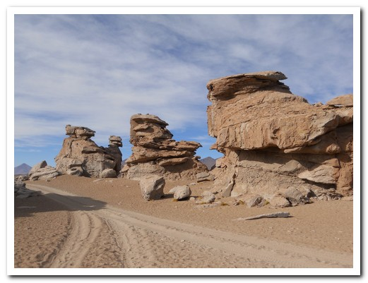 Strange rock formations in the desert