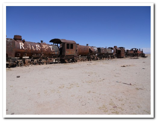 Dead trains at Uyuni