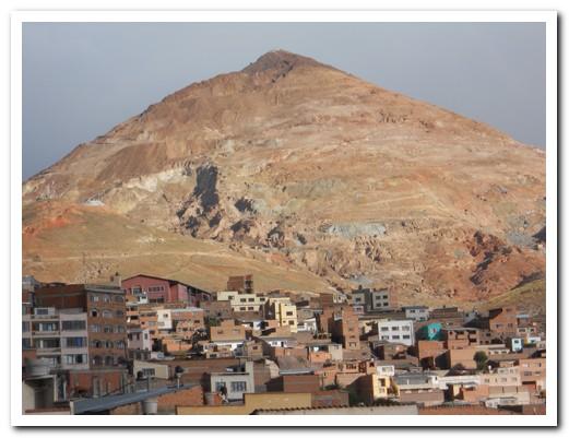 Cerro Rico (Rich Mountain) towers over Potosí
