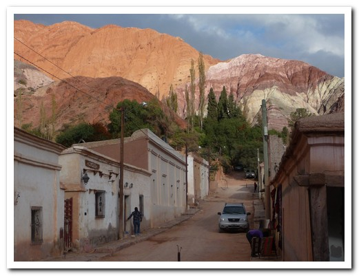 Purmamarca nestles in the hills of seven colours