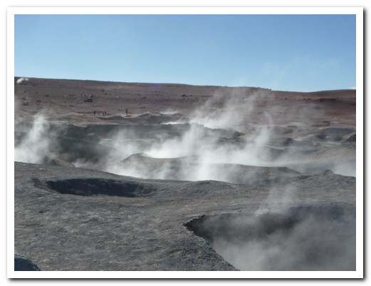 Steaming geysers at 4800 meters