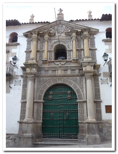 Entrance to the Casa de Monedas (Mint)