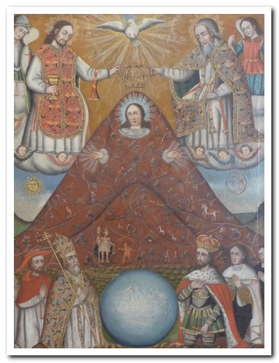 This painting tells the story of Potosí