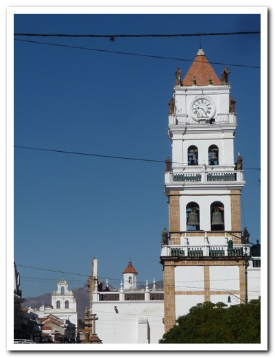 Sucre´s Cathedral with 2 other churches in the background