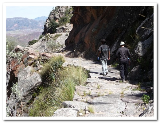 Setting off down the Inca road
