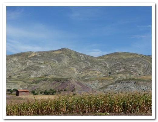 The crater walls surrounding Maragua