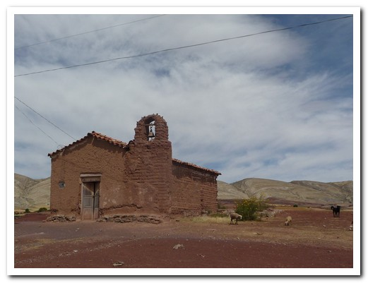 Small adobe church