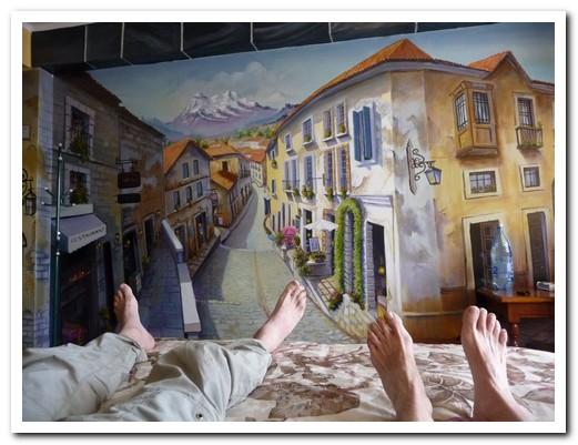 Our bedroom in Hostal Estrella Andina
